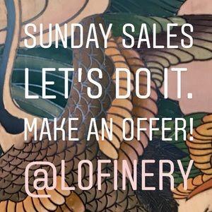 SUNDAY SALES! Make an offer!
